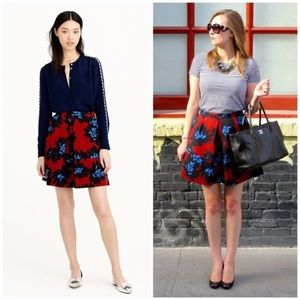 J. CREW Firework Floral Print Pleated Mini Skirt 4